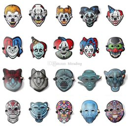 Wholesale Halloween Cosplay El Mask Led Sound Control Creative Cold Light Masquerade Portable Flexible With Many Style Masks C4922