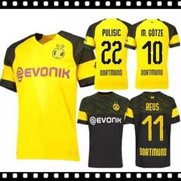 cba95e73f1b90 Tailândia qualidade BVB Borussia Dortmund Futebol Jersey 2019 PHILIPP GOTZE  REUS PULÍSTICO WITSEL Jersey 18 19 ISAK KAGAWA camisa de Futebol kit