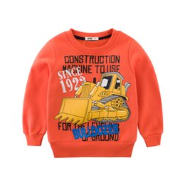 Cool Sweatshirt Jackets Canada - bulldozer designer coat baby cool boys jacket Sweatshirts tops kids clothes mix order