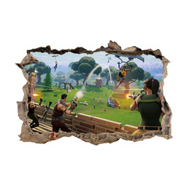 China Game Fortnite Wall Decor Sticker Art Picture Fortnight Battle Royale 9 Colors Bedroom Living room Christmas Decorations Wall Decals Gift Hot cheap living room decor colors suppliers