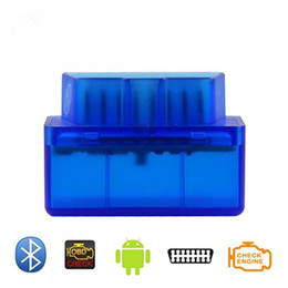 Chinese  Super Mini V2.1 OBD2 Bluetooth Interface Auto Car Scanner for Multi brands CANBUS as same as ELM327 Bluetooth. manufacturers