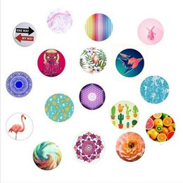 Wholesale 2018 best quantity NEW Universal Cell Phone Holder Glitter holder with OPP bag Stand Degree round Holder DHL Free