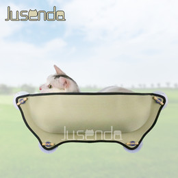 gray sofa beds Canada - Carrier Cat Hammock Window Bed Lounger Perch Sofa Cushion Mount Kitty Sill Hanging Shelf Seat Suction Cup for Ferret Chinchilla