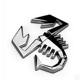 Car Emblem Logos Badges Australia - Fashion 3D Metal Silver Scorpion Car Sticker Truck Auto Decor Badge Emblem Logo Decal Car Styling Wholesale