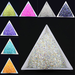 Wholesale 10000pcs bag SS6 2mm Many Color Jelly AB Resin Crystal Rhinestones FlatBack Super Glitter Nail Art Strass Wedding Decoration Bead Non HotFix
