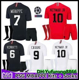 6a1981b39 adult kit socks maillots AJ PSG soccer jersey men uniform kit 2019 Paris  MBAPPE saint germain cavani jersey 18 19 Survetement football kit