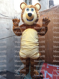 Marsha urso Traje Da Mascote vestido extravagante terno H6Y fancy dress Adulto Terno 2Outfit All-UK Mascot Costume NEW venda por atacado