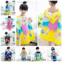 14 styles Mermaid bathrobe Kids Robes cartoon animal shark Nightgown  Children Towels Hooded bathrobes GG408 20PCS b2264ab41