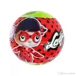 $enCountryForm.capitalKeyWord Australia - Mini Doll Series 3 Ladybug girl LiL Sisters Action Figures 10CM Ball Dolls Dress Up Baby Spray Water Dolls Toys for Kids fUNNY Carton boxes