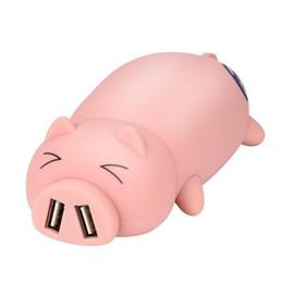 $enCountryForm.capitalKeyWord Australia - Adorable Piggy Design Portable Dual USB Port Power Bank 10000mAh For Iphone