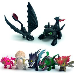 Skull Kid Figure UK - Cartoon 7pcs lot How To Train Your Dragon 2 PVC Figure Toys Hiccup Toothless Skull Gronckle Deadly Nadder Night Fury Dragon Figures