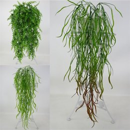 $enCountryForm.capitalKeyWord Canada - Plastic Artificial Plants Green Home Hotel Decoration Wall Hanging Plant Vine Office Wedding Decor Balcony Accessories 7 6yy UU