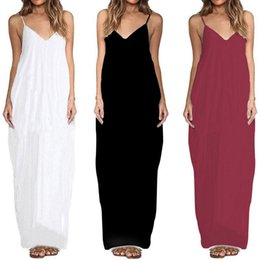 46948c377b9a3 Women White linen dresses online shopping - Women Long Beach Maxi Dresses  Summer Spaghetti Strap Dress