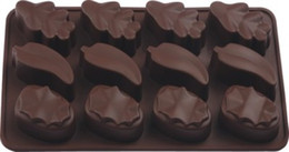 silicone leaf mould NZ - 12 hole leaves shape Silicone mold Baking mold chocolate mold fondant cake tool DIY cake decoration mould