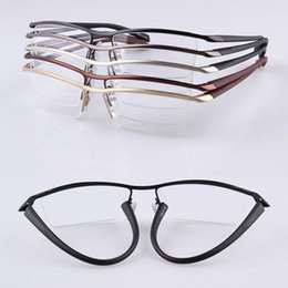 8005ad25a475 Discount rx glasses frames - TR90 Fexible Half Rimless Eyeglass Frames Men  Women lightweight Myopia Rx