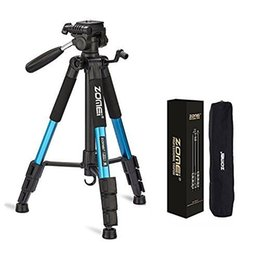 quick tripod UK - wholesale Q111 Professional Portable Video DSLR Camera Tripod Legs with quick release Plate Pan for Canon Nikon Sony Samsung Blue