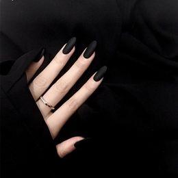 $enCountryForm.capitalKeyWord NZ - Simple Sexy black finished false nails.Middle-long size lady full nail tips finger art prom show fake nail 24pcs set