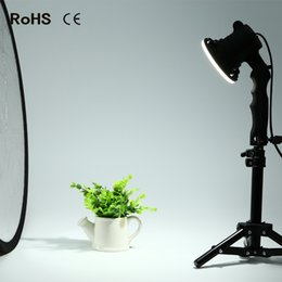 Discount portrait stand - 2 piece LED lamp photography studio light bulb portrait soft box fill light lights bulb and 2*37CM light stand