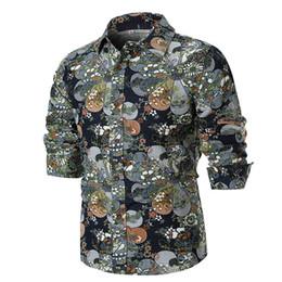 $enCountryForm.capitalKeyWord UK - Simple Fashion2018Personality Men's Summer Casual Slim Long Sleeve Printed Shirt Top Blouse Spring and Autumn Linen Shirt July24