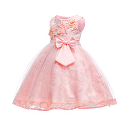 princess style dresses for toddlers UK - Free Shipping Cotton Lining Lace Infant Dresses 2018 New Style Baby Dress For 1 Year Girl Birthday Formal Toddler Princess Gowns