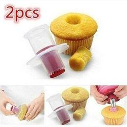 $enCountryForm.capitalKeyWord Australia - Free shipping 2Pcs DIY Cupcake Muffin Cake Pastry Corer Plastic Filler Model Plunger Cutter Cake Tools Bakeware