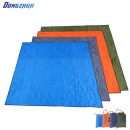 large outdoor camping mats 2019 - 215*215 cm Waterproof Moistureproof Picnic Blanket Oxford Cloth Folding Camping Mat Large Beach Mats Cheap Outdoor Tent