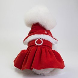 Wholesale santa costume female for sale – halloween 1 Christmas dog costume transformed dress santa suit classic Size Euramerican pet dog warm clothes dog apparel decoration