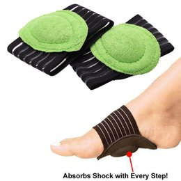 12c0811f14 2pcs pair Feet Cushioned Arch Support Shock Absorbing Foot Flat Plantar  Heel Feet Cushioned Foot pad Run-Up Pad Foot Care Heel Pain Relief