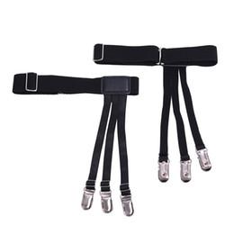 ca527c542a6 uspender elastic 1Pair Unisex Uniform Shirt Stays Holders Elastic Suspender  Garter Belts with Non-slip Plastic Duck-Mouth Clips for keepi.