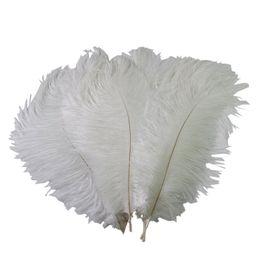 Ingrosso Colorful 12-14 pollici (30-35 cm) piume di struzzo bianco piume per centrotavola di nozze evento festa di nozze decorazione di festa Z134