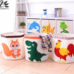 2018 Baby Clothes Storage Boxes Oxford Cartoon Toy Clothes Cover Box Storage  Basket Baby Folding Toys