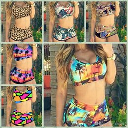 ffd039559c8a7 New 2018 Summer Retro Sexy Print Bikinis Set Vintage High Waist Shorts Bikini  Swimsuit Ladies  Swimwear Push Up Bathing Suits For Women 4289