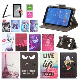 Discount universal 8 tablet cases - Histers Universal Cover for ASUS ZenPad 8.0 (Z380M KNL) 8 inch Tablet Printed PU Leather Stand Case 3 Gifts