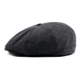 56663f8d4cb Canjoyn 2018 Berets Cap Autumn Winter Warm Berets boina masculina Hat Women  Men Flat Peaked Beret