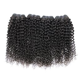 Tight Curly UK - Indian Hair Bundles Natural Color Can Be Dyed Curly Weave Hair Bundles Tight Afro Kinky Curly 4 pcs a lot