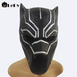 Civil War Costumes Halloween Australia - LePy Black Panther Masks Costume Captain America Civil War Roles Cosplay Latex Mask Halloween Realistic Adult Party Props