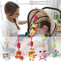 Hanging Product Australia - bell toy Multi-functional baby products 0-1 year old animal car hang baby gum rattle toys