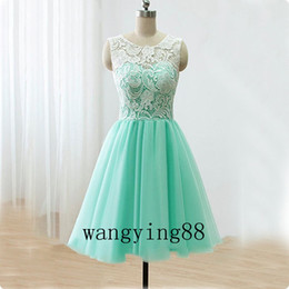 school girls sexy picture NZ - Short Mint Green Homecoming Dresses 2018 Real Pictures Knee Length Back to School Black Girls Cute 8th Grade Graduation Party
