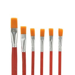 Wholesale Oil Painting Brushes Australia - Artist Paint Brush Nylon Hair Watercolor Acrylic Oil Painting Supplies