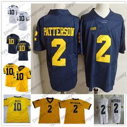 2019 Michigan Wolverines  2 Shea Patterson 10 Dylan McCaffrey Devin Bush 3 Rashan  Gary 5 Peppers Brady Woodson White Navy Blue Yellow Jersey 50765a6e1