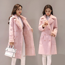 5391e02f7e3 Winter Woman Shearling Coats Faux Suede Leather Jackets Plus Size Loose Coat  Medium Long Faux Lambs Wool Coat S-XL D18110103