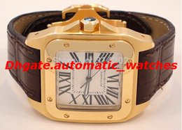 Wholesale New Hot Sell Men s XL W200737G W20071Y1 W20112Y1 Leather Bracelet Movement Wrist Watches Mens Automatic Mechanical
