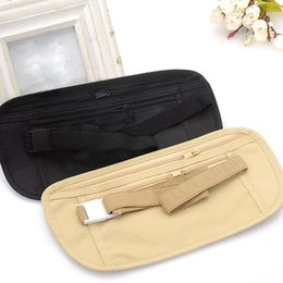$enCountryForm.capitalKeyWord NZ - SFG HOUSE Cloth Travel Pouch Hidden Wallet Passport Money Waist Belt Bag Slim Secret Security Useful Travel Bag