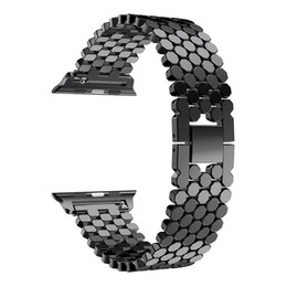 $enCountryForm.capitalKeyWord UK - For Apple Watch Straps Fish Scale Metal Stainless steel Band iwatch Series 1 2 3 4 With Adapters Connector For Apple watchband 40 44mm