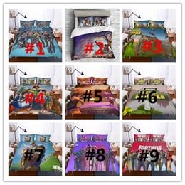 3D печатные постельные принадлежности игры Fortnite детская комната постельные принадлежности наборы Fortnite Королевская битва пододеяльник комплект наволочка пододеяльник кровать США AU размер подарки 9