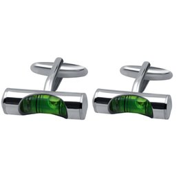 $enCountryForm.capitalKeyWord UK - Green Horizontal Cufflinks Tuxedo Shirt Cuff Links Stud Level Design Cuff Links Quality Brass Material Functional Gradienter Cuff Links