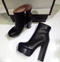 4cd32a1d629 2017 New Luxury Black Genuine Leather Pointed Toes Ankle Boots Womens Boots  Designer Sexy Ladies Red Bottom High Heels Shoes Pumps 14cm
