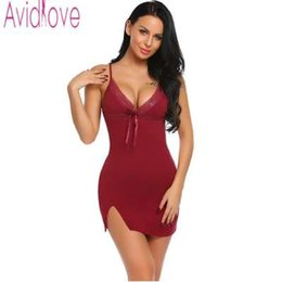 Avidlove Sexy Cotton Nightgown Women Sleeveless Strap Nightwear Sleepwear  Female Lounge Wear Night Dress Home Sleepshirt Nighty 3609d5a2e