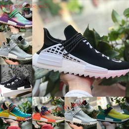 5a18d398 2018 nuevos originales Adidas nmd shoes pharrell williams raza humana zapatos  nmd hombres mujeres nmds negro blanco gris rojo primeknit PK corredor XR1 R1  ...