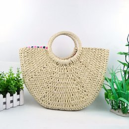 straw clutches UK - YYW Straw Bag Summer Beach Bags Fashion Handbags Women Travel Clutch Lady Tote Top-handle Bag Bolsa Feminina Hot Sales